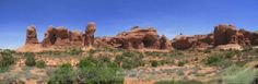 'The Windows' - Natural rock formation in Utah.  Available as large canvas or gloss prints.