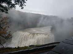 A very muddy Middle Falls