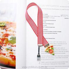 marcador de livro de receitas - pizza margherita - cute cooking acessories for foodies