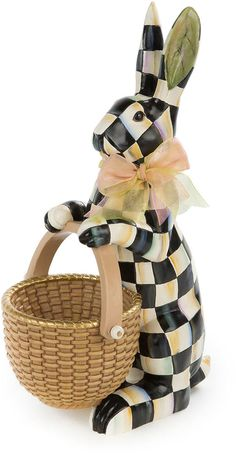 MacKenzie-Childs Courtly Check Rabbit Figure