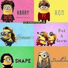 Harry Potter Minons! Yes! @Kylie Knapp Knapp Brown
