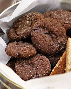 Semisweet chocolate and cocoa powder pack big fudgy flavor into these bite-size cookies. Honey and brown sugar make them especially moist.