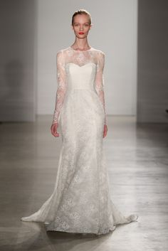 Hottest Trends from Bridal Week Fall 2016 | long sleeves | Amsale