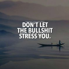 Don't let the bullshit stress you..