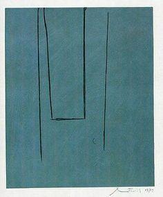 "Robert Motherwell, 1975, ""Slate Grey Pintura"""