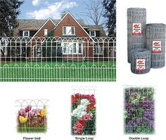 Beautiful Example Of A Woven Wire Loop Fence With A