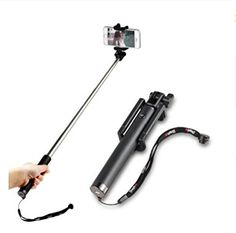 Life Origion Wireless Bluetooth Selfie Stick Monopod with Extendable Lenth Up to 80cm Black -- Read more  at the image link.