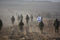 IDF soldiers operating in Gaza.