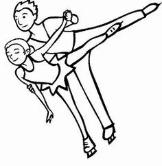 Figure Skating Coloring Page Ice Skating, Figure Skating, Winter Olympics, Winter Time, Skate, Coloring Pages, Activities, Canvas, Boys