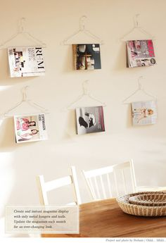 DIY magazine holders