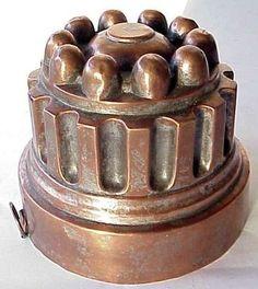 Antique copper kitchen mold