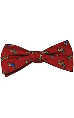 Chaps Holiday Christmas Print Bow Tie Pre-Tied Adjustable (Red Reindeer) ❤ ...