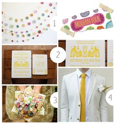 Modern Folk, curated wedding collection on Etsy's blog.  Lots of good ideas here.