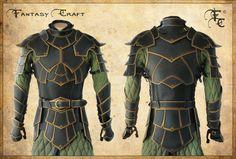 Fantasy leather armor by Fantasy-Craft on @DeviantArt