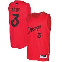 NBA Chicago Bulls #3 Dwyane Wade Red 2016-2017 Christmas Day Swingman Jersey