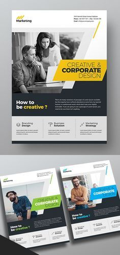 Corporate and unique Business Flyer Templates perfect for corporate business and organization. Professional flyer designs are very easy to use and change text, Graphic Design Flyer, Design Brochure, Poster Design, Branding Design, Free Brochure, Corporate Flyer, Corporate Business, Corporate Design, Business Design