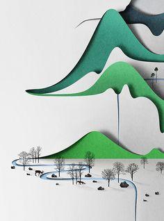 Vertical landscape on Behance
