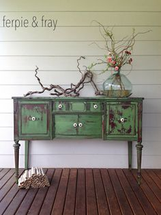 tavern green milk paint buffet [from Ferpie and Fray]