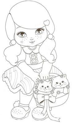 bonecas para pintar em fraldas - Pesquisa Google