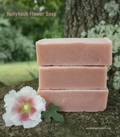 Hollyhock Flower Soap Recipe. The sweet scent of the thirteenth anniversary.