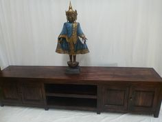 Brown Entertainment Units and TV Stands Brown Cabinets, Wood Sideboard, Teak Wood, Cupboard, Entryway Tables, Home Furniture, Console, Bali, Recycling