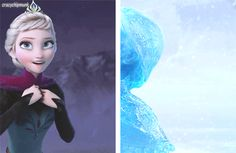 Elsa Frozen gif. Wow, months after the movie's come out, the fandom still continues to produce amazing gifs. Great job ripping out our hearts, guys!