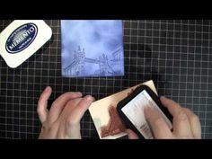 Creating background paper with stamps and Memento ink *** Achtergrond papier maken met stempels en Memento stempelinkt #stamping #tutorial