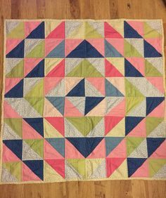 Patchwork quilt, made using @craftcotton Ombre trends fabric, free tutorial over on the link