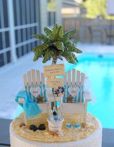 Nautical Wedding Cakes, Beach Wedding Cake Toppers, Beach Wedding Decorations, Wedding Ideas, Beach Themed Wedding Cakes, Nautical Theme, Wedding Gifts, Simple Beach Wedding, Beach Wedding Colors