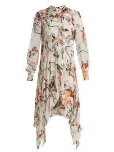 Erdem Kaylah button-down silk-georgette dress