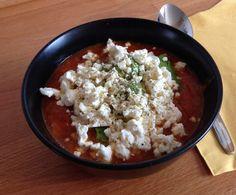 Rezept Cremige Tomatensuppe mit Avocado und Feta von tkdBine - Rezept der Kategorie Suppen