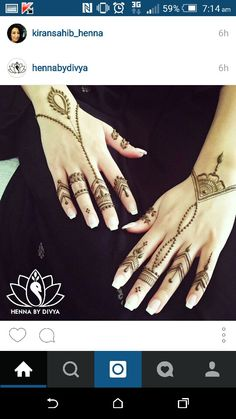 Henna by Divya - simple henna hand designs
