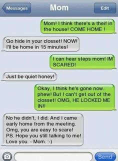 This twisted prankster... | 29 Parents Who Are Clearly Way Better At Texting Than Their Kids