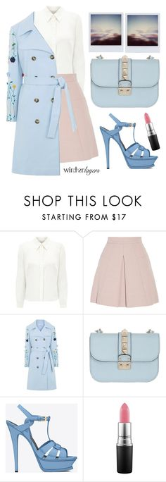 """""""Dancing on my own"""" by karineminzonwilson ❤ liked on Polyvore featuring Eastex, Alexander McQueen, VIVETTA, Valentino, Yves Saint Laurent, MAC Cosmetics, women's clothing, women's fashion, women and female"""