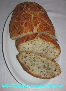 Bread without kneading Slovak Recipes, Czech Recipes, Russian Recipes, Healthy Foods To Eat, I Foods, Czech Desserts, Good Food, Yummy Food, Salty Foods