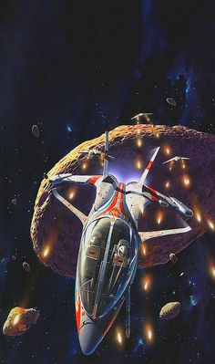 Peter George Elson (1947-1998) —   'Pirates of the Asteroids'  by Isaac Asimov…