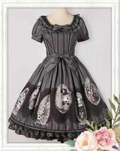 For Halloween: Ista Mori ✦~Black Fairy Tale~✧ Lolita OP >>> http://www.my-lolita-dress.com/ista-mori-black-fairy-tale-lolita-op-dress-im-14 [Save 21USD during the pre-order]