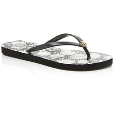459cc666f54ca Tory Burch Thin Flip Flops ( 53) ❤ liked on Polyvore featuring shoes
