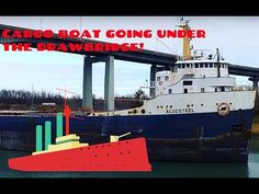 Katie filming a large Algosteel Boat travelling under the Carlton Street Drawbridge in Niagara, Ontario, Canada near the Welland Canal. Marina Bay Sands, Ontario, Canada, Boat, Building, Youtube, Travel, Voyage, Dinghy