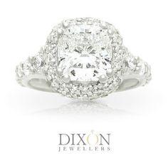 Custom Diamond Engagement Rings Portfolio l Dixon Jewellers Big Diamond Rings, Cushion Cut Diamond Ring, Diamond Engagement Rings, Canadian Diamonds, Bling, Jewels, Jewel, Jewerly, Gemstones