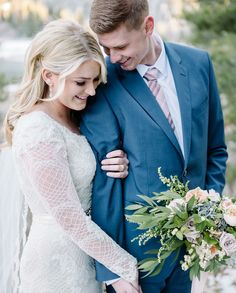 modest wedding dress with long sleeves and a flared skirt from alta moda (modest bridal gown)