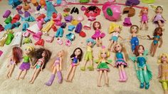 Huge Polly Pocket lot over 300 pieces- Figures, clothes and accessories  #Mattel