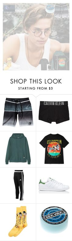 """""""OOTD"""" by burningembers94 ❤ liked on Polyvore featuring Quiksilver, Calvin Klein Underwear, MANGO, adidas, HOT SOX, Hurley, men's fashion and menswear"""