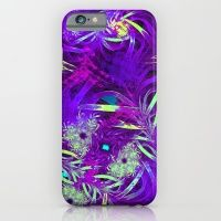 iPhone & iPod Case featuring Purple Abstract Ribbons by Lark Designs