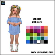 Lana CC Finds - sims4nexus: Lucia -A Dress for Toddler Girls- |...