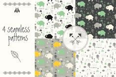 4 #Seamless #Patterns - Download http://luvly.co/items/4032/4-Seamless-Patterns
