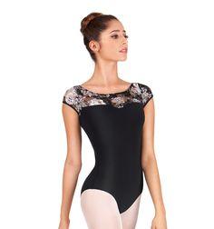 Lace Sweetheart Cap Sleeve Leotard - Fashion Leotards   DiscountDance.com