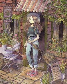 Yukicon's artist alley #ink #illustration #witch