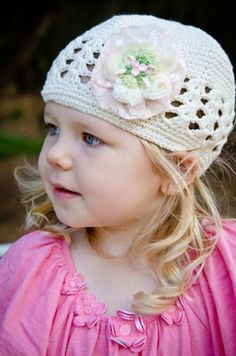 EMBELLISH'D Beanies - Ivory Pink and Cream Shabby Flower - all handmade using the best materials in Australia. #babies #clothing