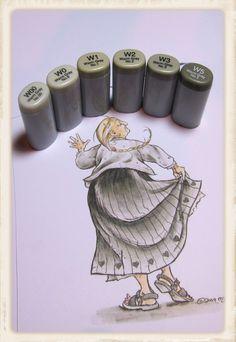 Copic Marker Europe: Tutorial Monochromatic colouring - excellent colouring technique